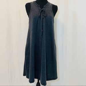 Altar'd State Grey Sleeveless Lace Up Dress